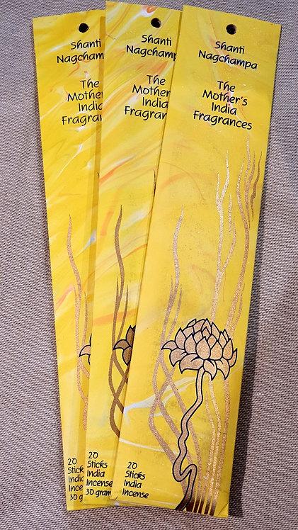 Mothers fragrance Incense - Shanti Nagchampa