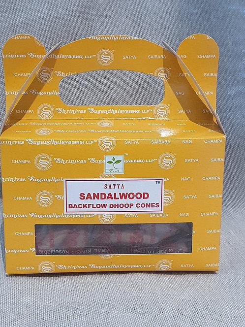 Sandalwood backflow cones 24 pack