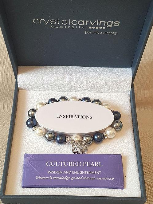 Cultured Pearl tree of life bracelet