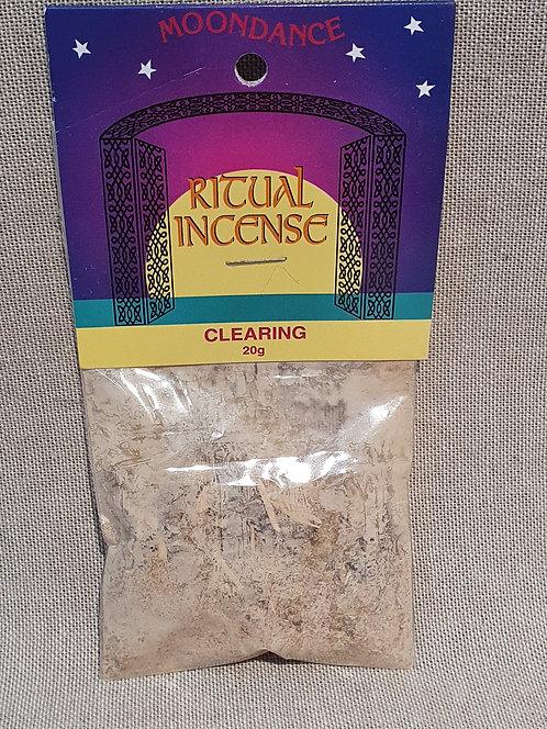 Clearing ritual incense