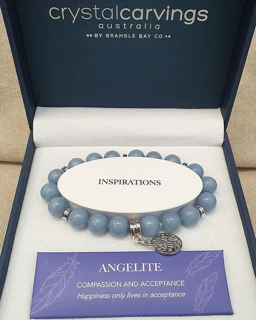 Angelite Tree of Life Bracelet
