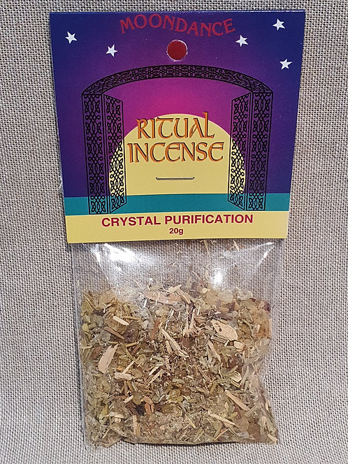 Crystal purification ritual incense