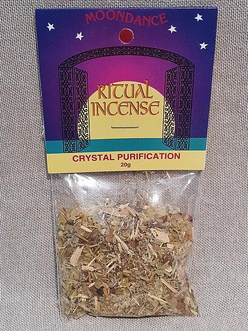 Crystal purification ritual incense