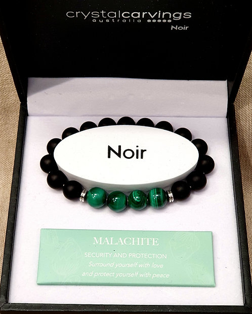 Malachite & Black Agate Bracelet