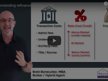 Understanding refinance closing costs
