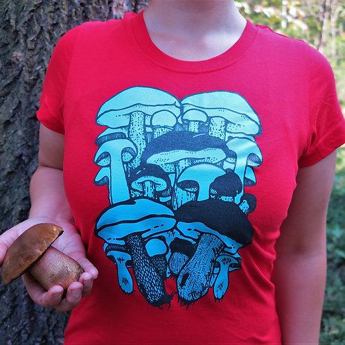 Dámské červené tričko Hřibovité