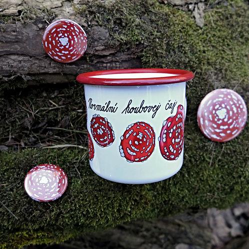 Plecháček - Normální houbovej čaj - s červeným okrajem