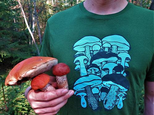 Pánské zelené tričko Hřibovité