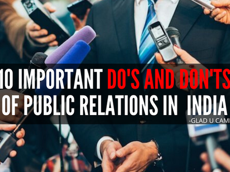 10 IMP Do's and Don't of Public Relations in India