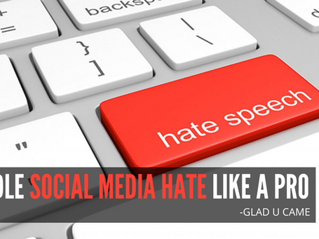 How to handle Social media hate and look professional