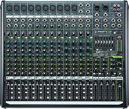 Rental - Mackie ProFX16v2 16 Channel (10 Mic) Analog Mixer w FX