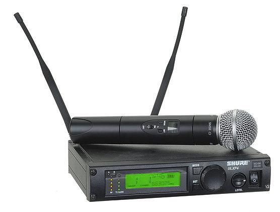 Rental - Shure ULXP4 Wireless System w SM58, Headset, or Lavalier Microphone