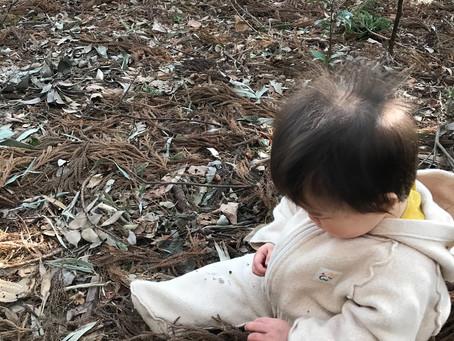 1歳の娘、ワイルドに