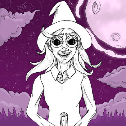 Witch in Flight.