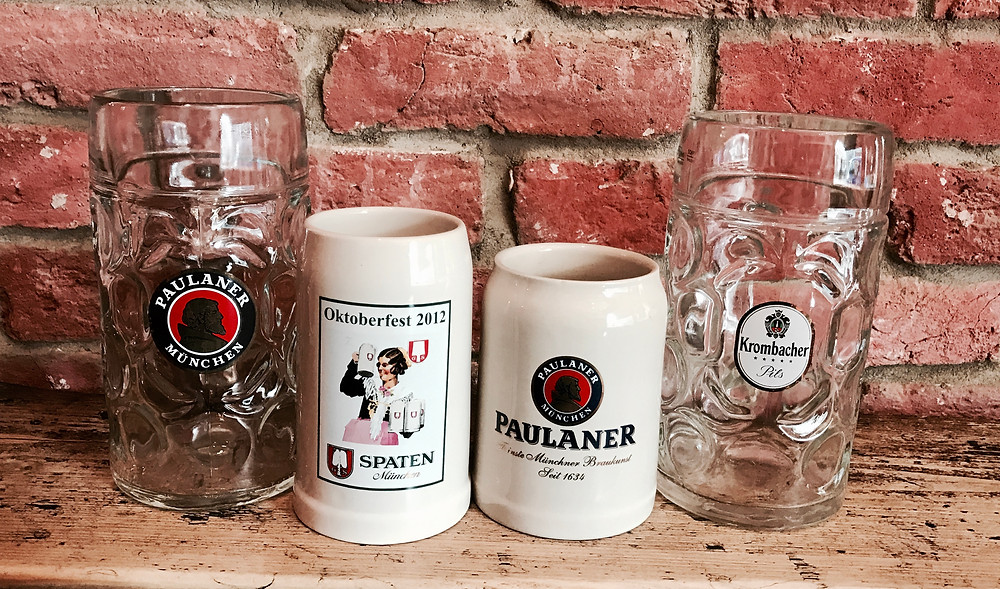 "Glass steins vs ""Steinkrüge"""
