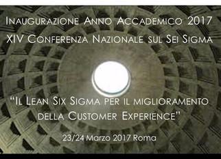 Conferenza Annuale AISS - Lean Six Sigma per il miglioramento della Customer Experience