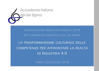 """Conferenza Annuale AISS 2018:                 """"La Trasformazione Culturale delle Competenze per"""