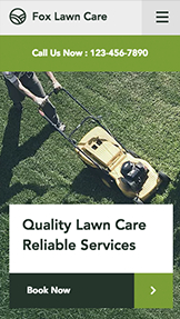 Dienstleistungen website templates – Lawn Care
