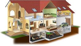 дом с мансардой и цокольным этажом
