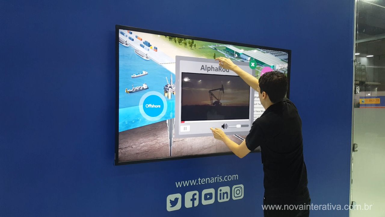 Tela multi Touch 75""