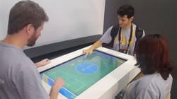 Futebol na mesa multi touch