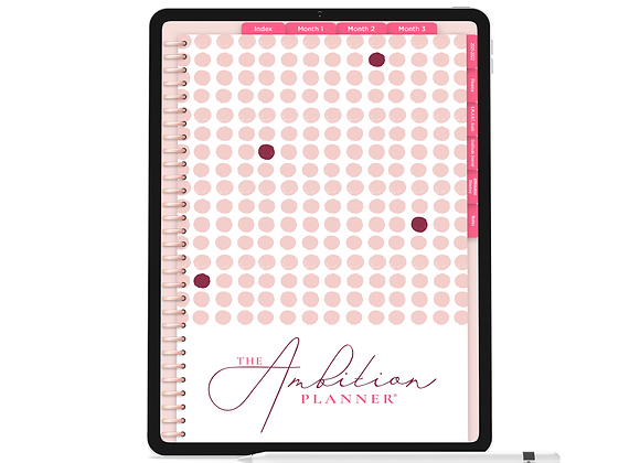 1 of 1 in Pink | Pink Mode | 90 Day Digital Planner