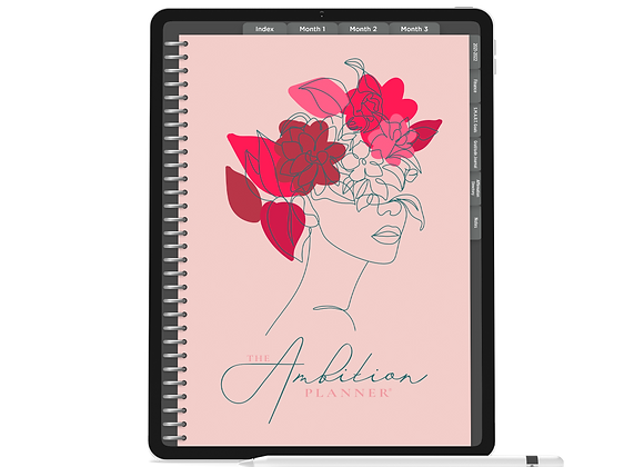 The Queen Mother of Ambition | Dark Mode | 90 Day Digital Planner