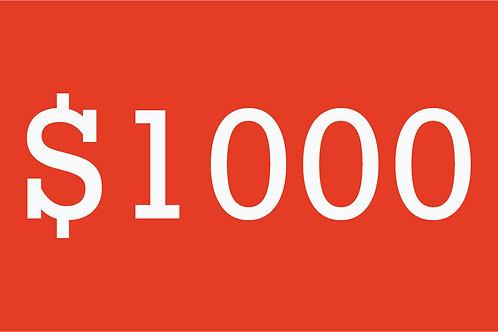 $1000 Building Bridges Donation