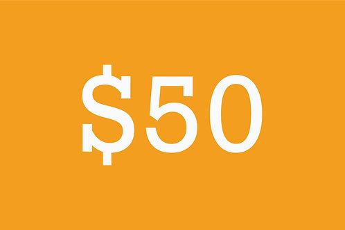 $50 Building Bridges Donation