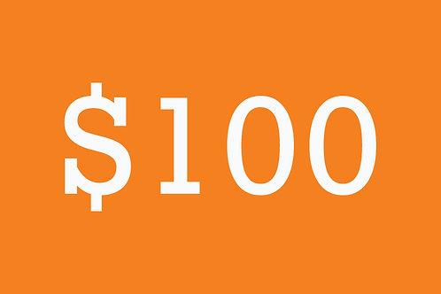 $100 Building Bridges Donation