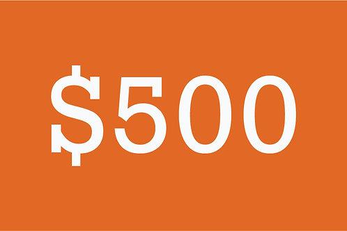 $500 Building Bridges Donation