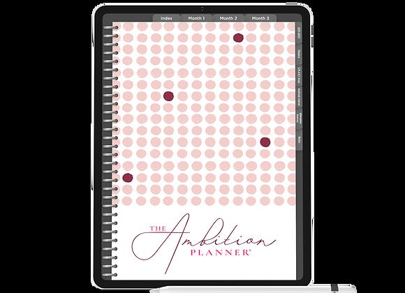 1 of 1 in Pink | Dark Mode | 90 Day Digital Planner