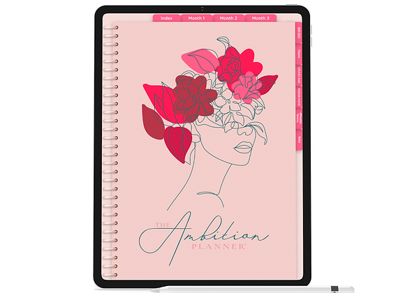 The Queen Mother of Ambition | Pink Mode | 90 Day Digital Planner