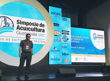 Zandy DeBeausset from Acuamaya presenting at the Guatemala Aquaculture Symposium