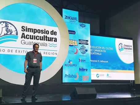 Zandy DeBeausset from Acuamaya presenting at the Guatemala Aquaculture Symposium