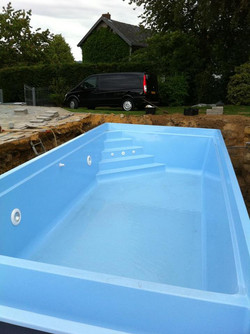 Polyfaser bad rechthoek hemelsblauw