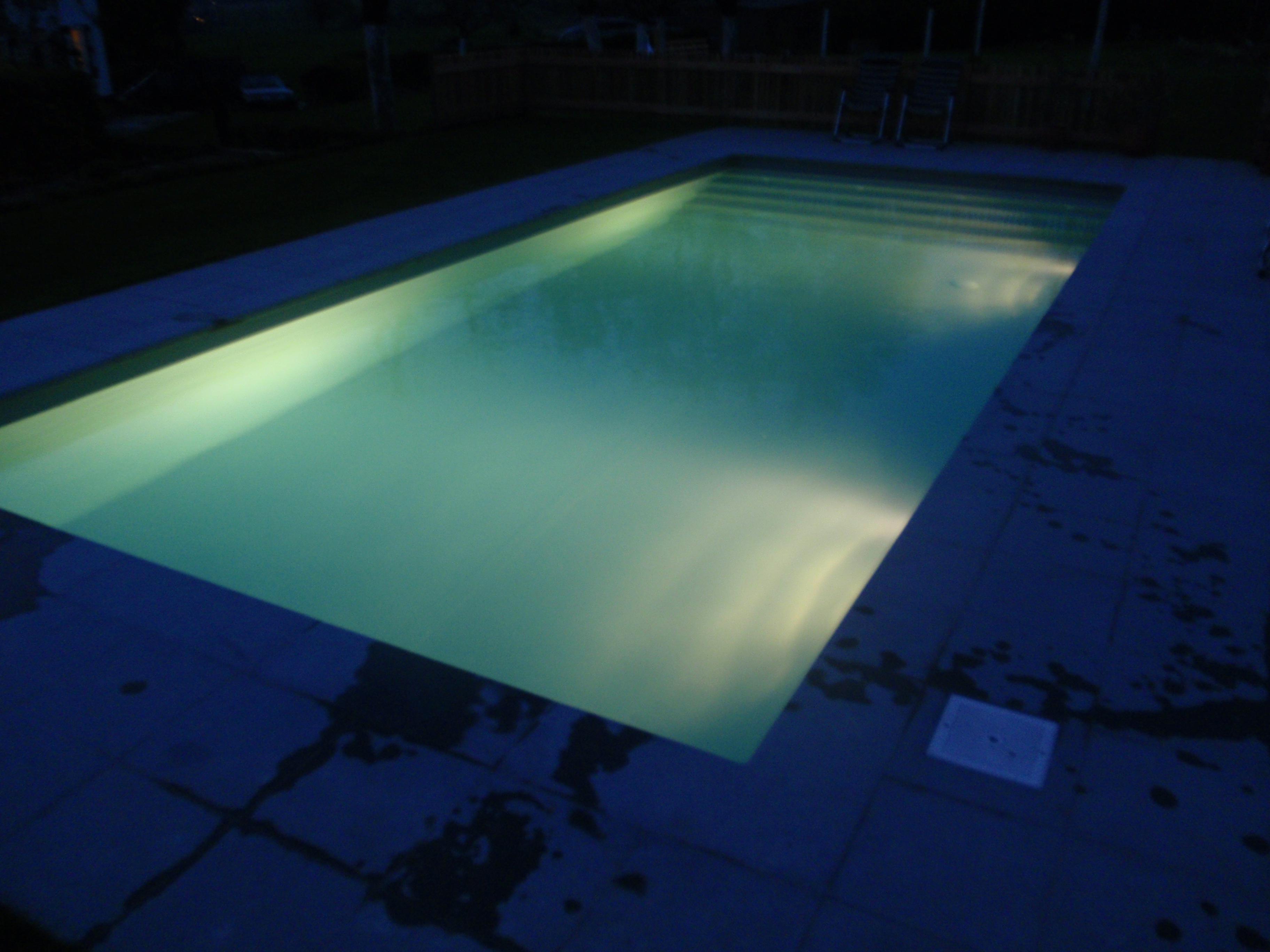 Foliebad grijs bij avond