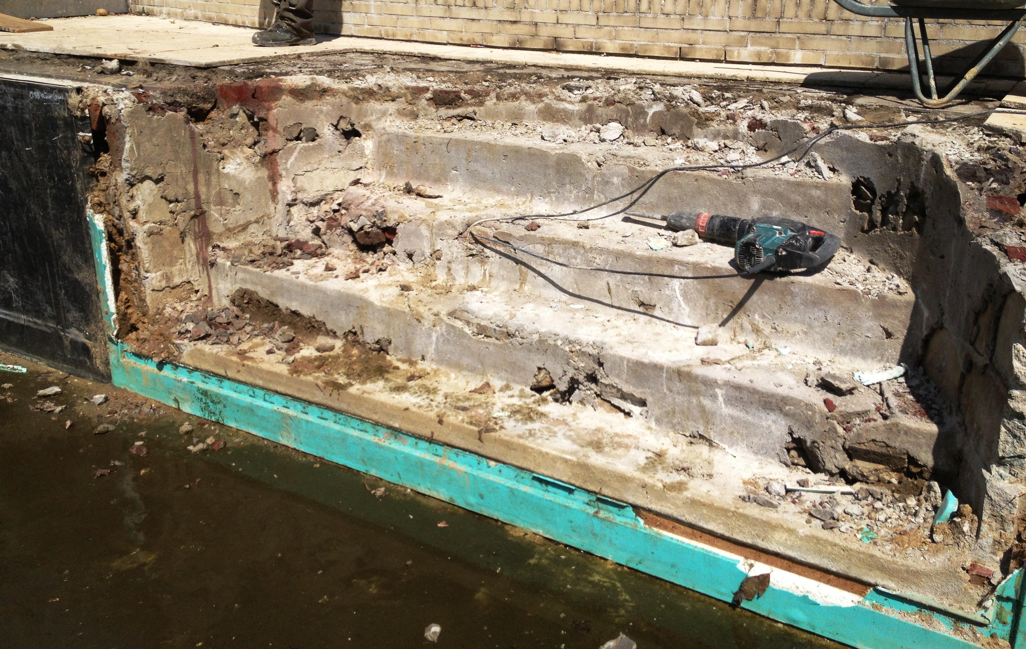 ontmantelen Romeinse trap