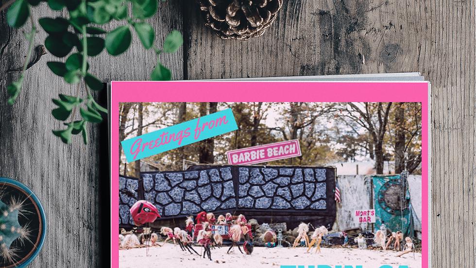 Barbie Beach Turin, GA Postcard