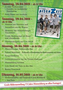 Festprogramm: 775 Jahre Himmelsberg