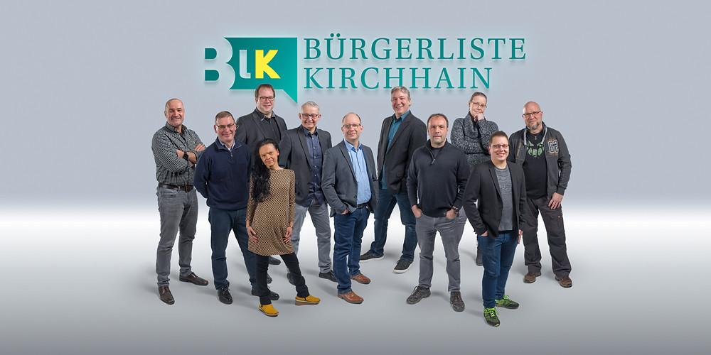 Die Kandidaten der Bürgerliste (v.l.): Peter Klein, Ingo Speh, Jan Kuhn, Susann Speh, Uwe Kemmer, Klaus Sohl, Frank Wagner, Roland Bechtel, Petra Anger, Dennis Christof und Thomas Näcker