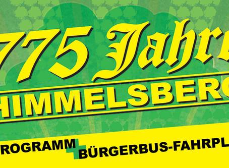 Vier Tage lang volles Programm: 775 Jahre Himmelsberg
