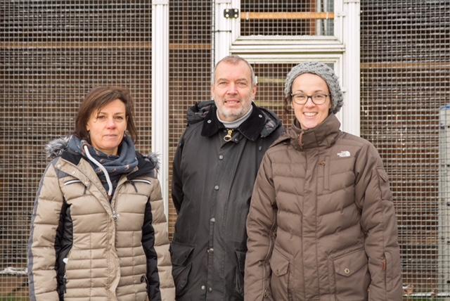 v.l.: Dr. Moira Behn (Wildpflegestation Schönbach), Reiner Nau, Angela Dorn (Bündnis90 / DIE GRÜNEN). Foto: Hans-Jörg Hellwig – www.diginatur.de