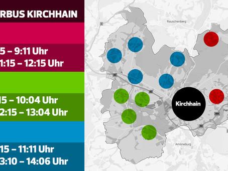 Bürgerbus Kirchhain: Routen und Zeiten
