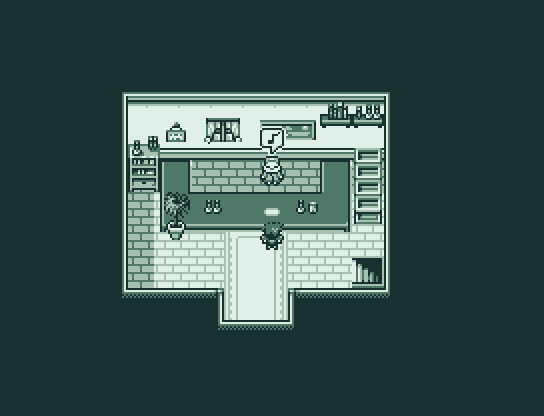 Gameboy Styled Screenshot Demonstrating Tiles and Characters