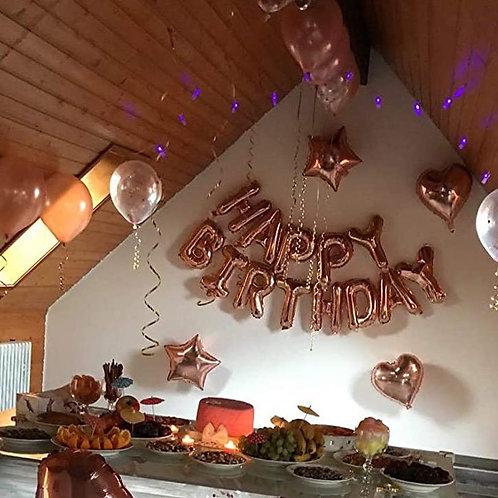 """Décoration """"Happy Birthday"""" de la chambre"""
