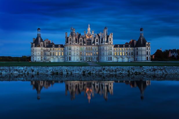 The castle of Chambord at sunset, Castle