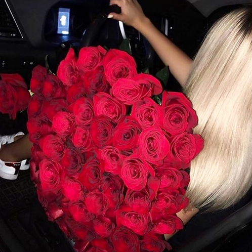 Bouquet de 50 roses rouges gros boutons