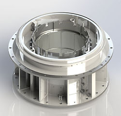 technical rendering of a babbitt bearing