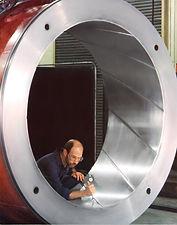 Worker testing bearing